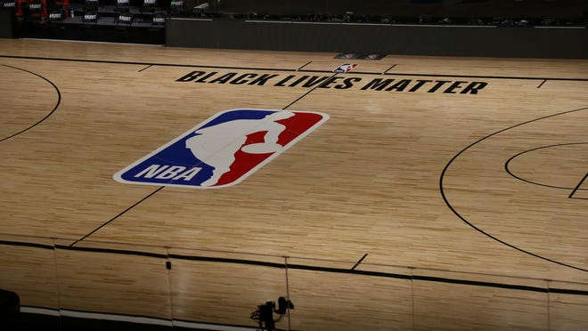 A view inside The Field House before the NBA playoff series in Lake Buena Vista, Fla.