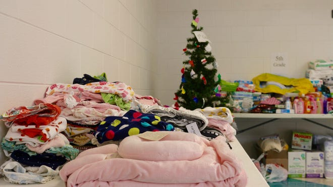 Students at Pine Ridge Elementary have collected over 2,500 baby items to donate to Lakeshore Pregnancy Center/Postive Options.