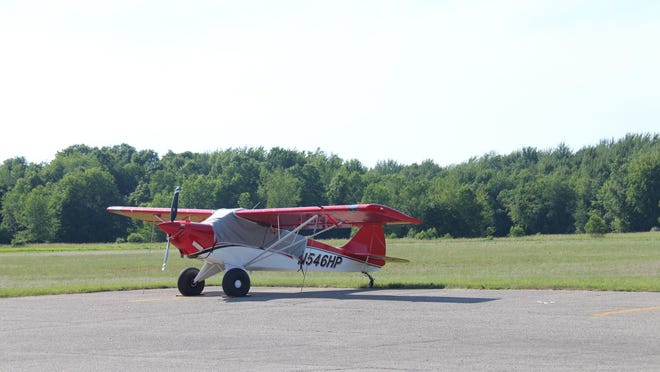 In this 2019 Sentinel file photo, an airplane is parked at Park Township Airport, located at 1269 Ottawa Beach Road. The Park Township Board is exploring how to move forward with the decision-making process over the future of the airport once the airport is closed for good later this year.