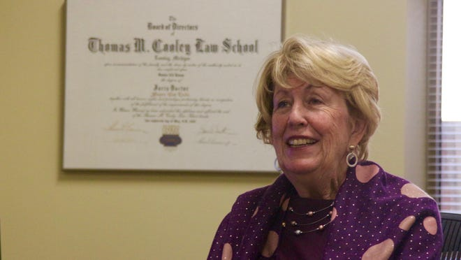 District Court Judge Susan Jonas speaks with The Holland Sentinel Thursday, Dec. 10, from her office. Jonas will retire at the end of the year.