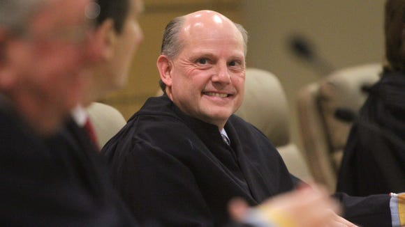 Sen. Greg Lavelle criticized Delaware Chief Justice Leo Strine, shown here, for comments Lavelle says inappropriately linked Delaware to North Korea.