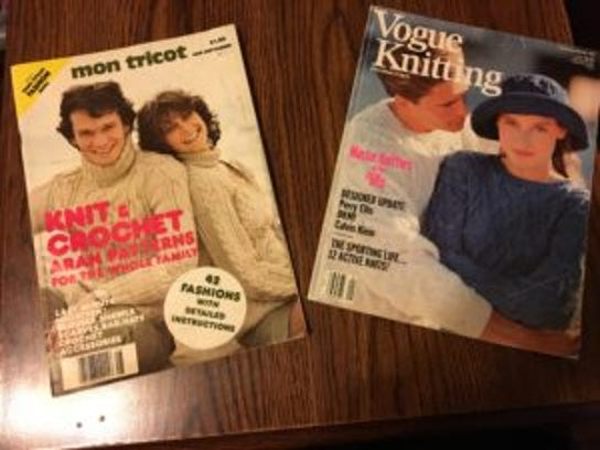 The magazin on the left is a classic Mon Tricot issue