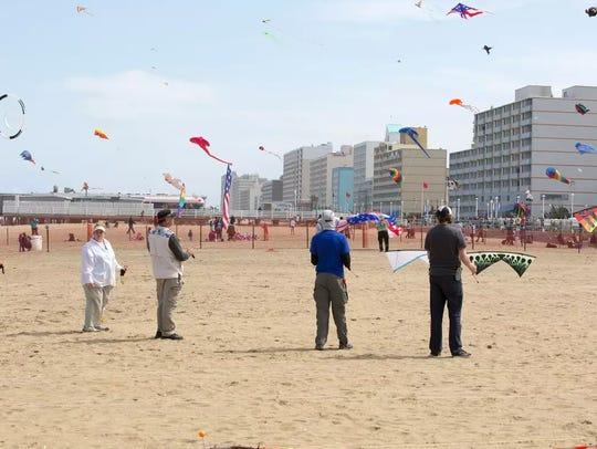 Judges of the Atlantic Coast Kite Festival determine