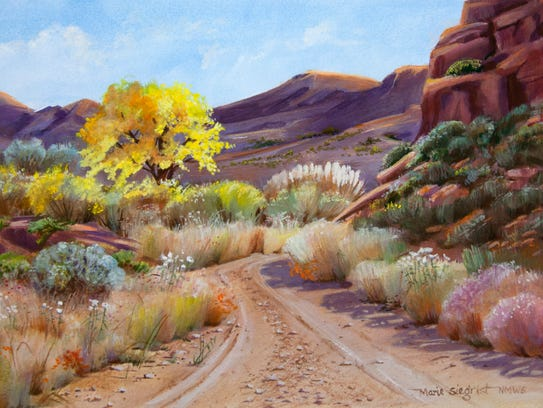 """""""Back Country Road"""" by Marie Siegrist."""