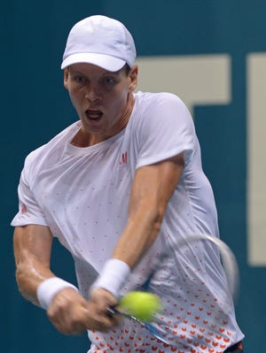 Tomas Berdych of the Czech Republic reaches the final of the Thailand Open.