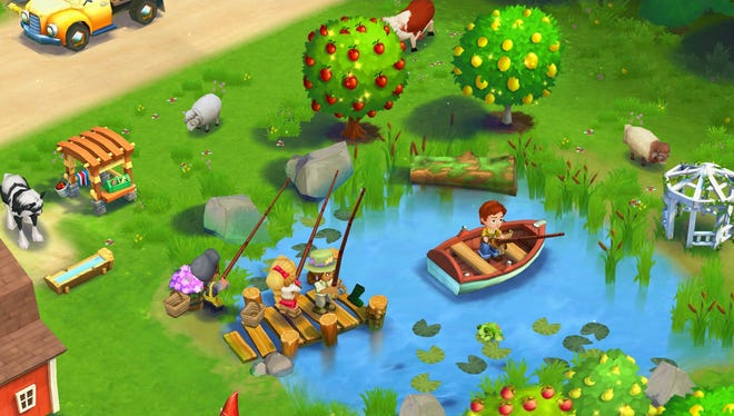 """A scene from """"FarmVille 2: Country Escape"""" for Apple iOS and Google Android devices."""