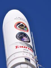 An Orbital Sciences Taurus XL rocket carrying NASA's
