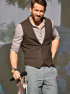 Ryan Reynolds speaks onstage at the 2014 Global Citizen Festival to end extreme poverty by 2030 in Central Park on September 27, 2014 in New York City.