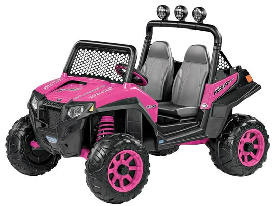 A pink Peg Perego Polaris RZR 900, which retails at Target for $349.99.
