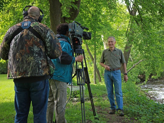 "Dan Small, right, has been host of the ""Outdoor Wisconsin"""