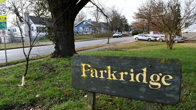 An entry sign into East Knoxville's Parkridge neighborhood.