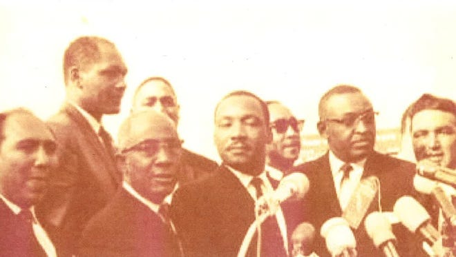 Antonio Cardenas, far right, was one of the five Mexican-American men who sparked a civil rights movement in South Texas before he moved to the Fort Collins area. He's pictured here with Martin Luther King Jr. in the summer of 1963.