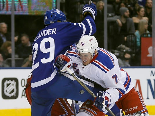 USP NHL: NEW YORK RANGERS AT TORONTO MAPLE LEAFS S HKN TOR NYR CAN ON