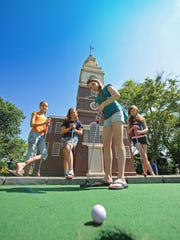 Enjoy the beautiful holiday weekend weather and play a round of mini golf in Philly's Franklin Square.