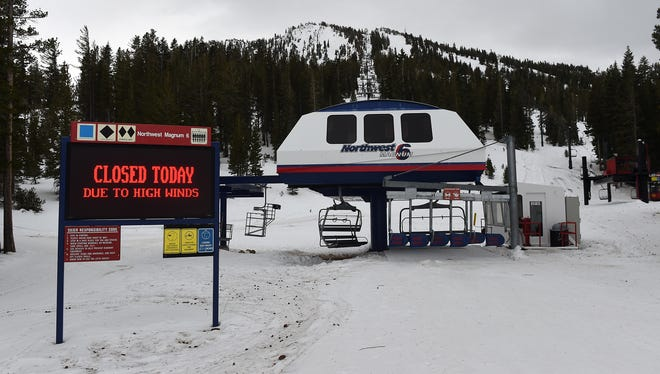 The Mt. Rose ski area keeps their lifts closed due to high winds on Dec. 11, 2014.