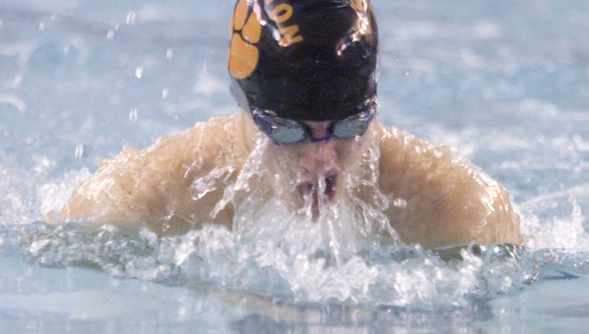Brighton's Brennan Panzl won the 100 breaststroke in the Lakes Conference meet and was 14th in the state Division 1 meet last season.