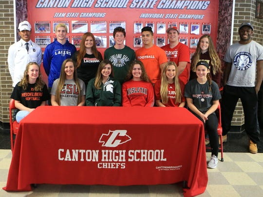 Fourteen Canton High School seniors took part Feb. 7 in National Signing Day festivities.