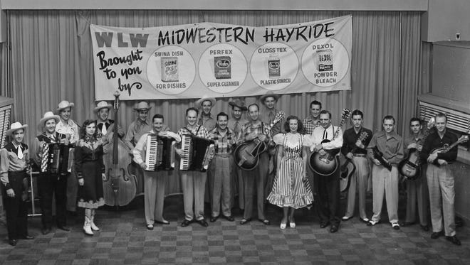 """Midwestern Hayride"" will be relived at Woodward Theater Sunday. Pictured here are Louis Innis, Jerry Byrd, Zeke Turner, Red Turner and other Cincinnati giants."