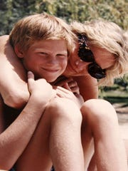 Photo from the personal album of Princess Diana showing