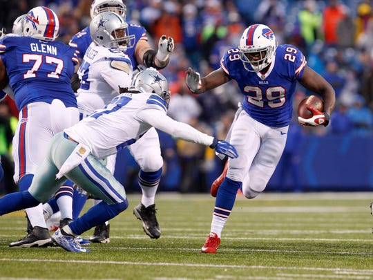 Karlos Williams rushed for 517 yards and 7 touchdowns for the Bills in 2015.