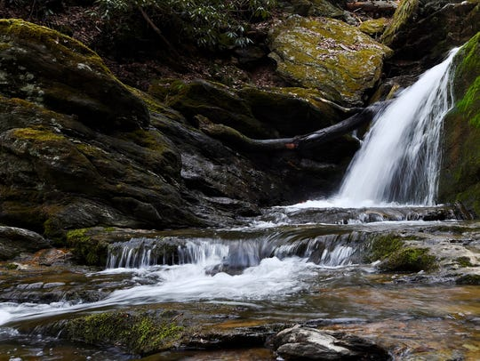 Mill Creek Falls, about a half mile hike up on the