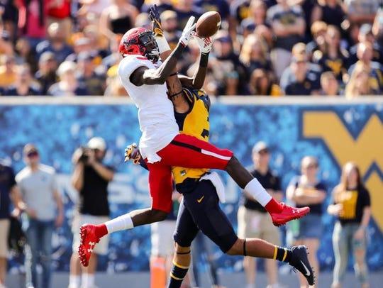 Texas Tech receiver T.J. Vasher makes a 53-yard touchdown
