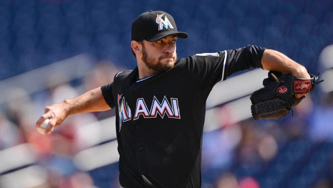 Jarred Cosart was 4-4 with a 2.39 ERA in 10 starts last year for the Marlins.