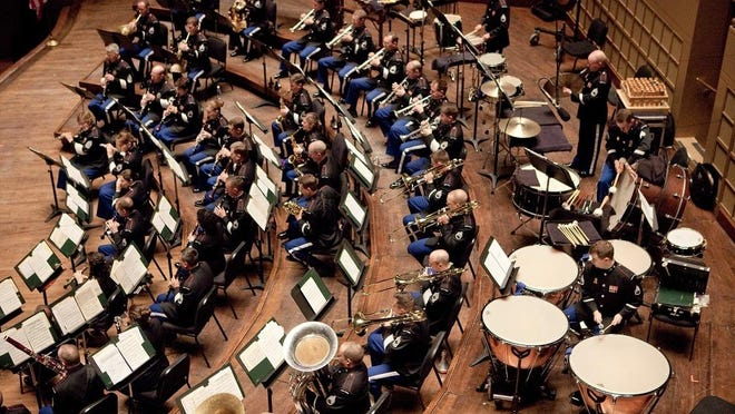 The West Point Band performs Oct. 28 at Arlington High School in LaGrange.