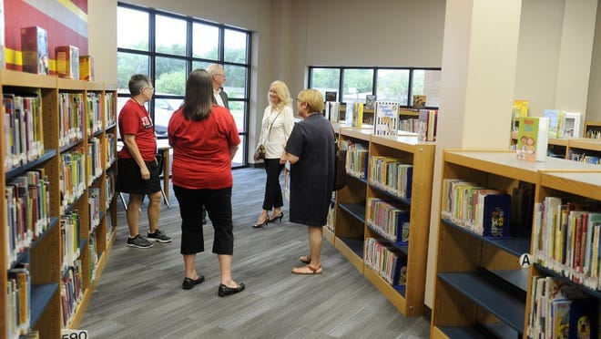 In this file photo, people check out the new Bonham Elementary School, a product of the 2013 Abilene Independent School District bond program. The district is seeking another bond, this one $138.7 million, in 2018. It goes before voters Nov. 6.
