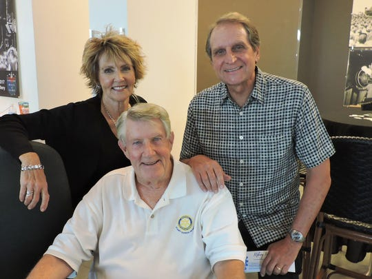 """Paula Hundt, Gene Van Curen and Rock Fiore enjoy the """"Be a Tourist in Stuart"""" kickoff event at the Elliott Museum on Oct. 20."""