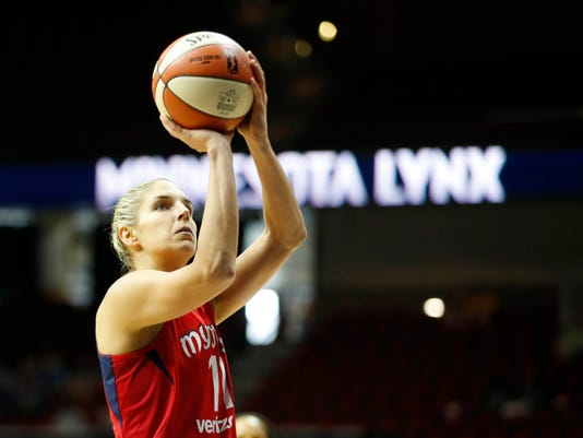 USP WNBA: WASHINGTON MYSTICS AT MINNESOTA LYNX A USA IA