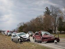 Ind. 67 crash near Albany injures 5
