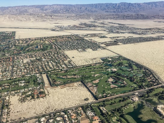 The green landscaping of subdivisions, golf courses