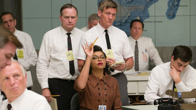 """Katherine G. Johnson (Taraji P. Henson) makes one of many key contributions to the effort to send John Glenn into orbit  in a scene from the motion picture """"Hidden Figures."""""""