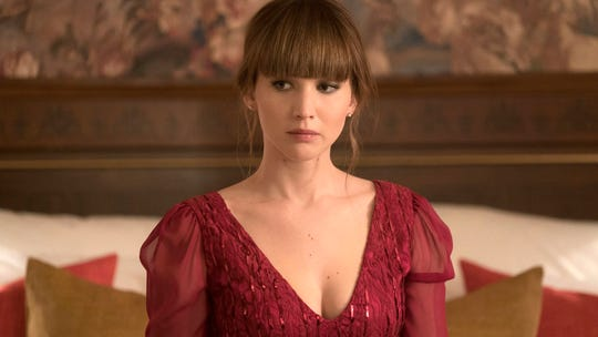 Jennifer Lawrence in a scene from 'Red Sparrow.'