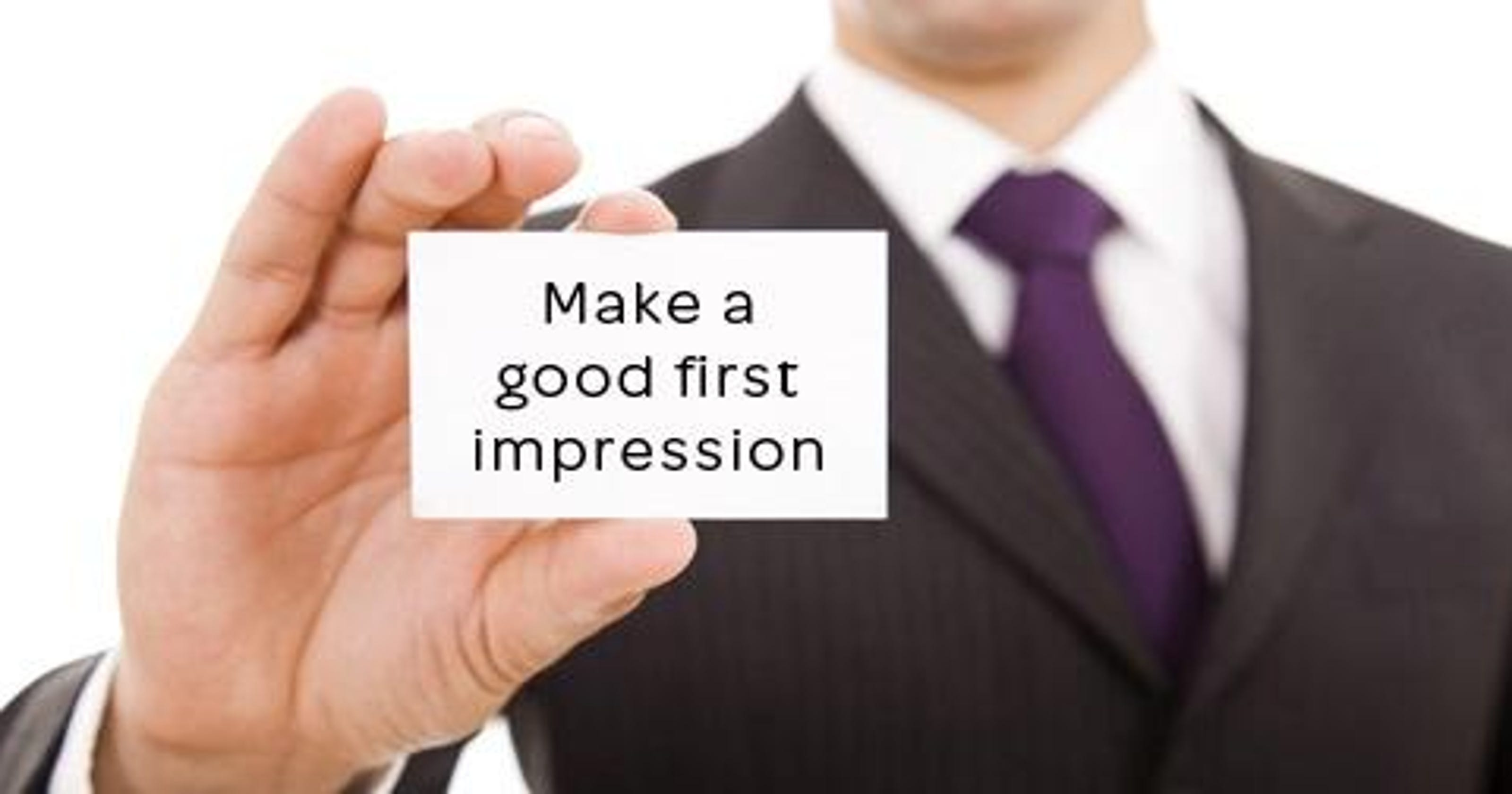 6e21ea90 First impression at an interview has a lasting impact