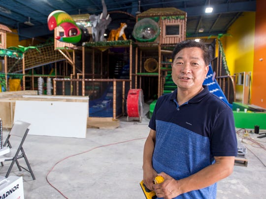 General manager Jacob Kim talks about Newtopia, an indoor playground facility for children, Monday, June 18, 2018, in Montgomery, Ala.