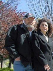 Verona sign maker Matthew BeneduceMcGrath and his wife Gloria pictured in 2012.