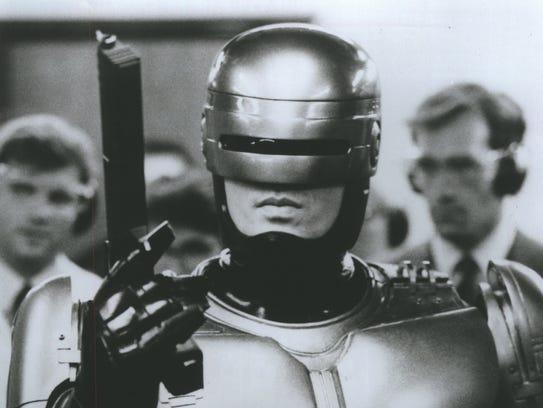 Peter Weller as 'RoboCop.'