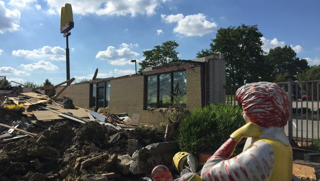 The McDonald's on Dream Street in Florence was almost completely demolished Thursday afternoon. Opened in 1975, it was believed to be one of the oldest McDonald's in the area to get a renovation. It will reopen in December.