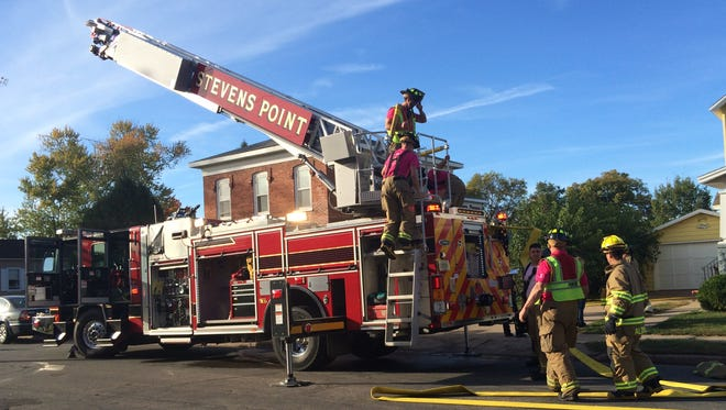 Firefighters from Stevens Point, Plover and Hull responded to a fire in a home on Franklin Street in Stevens Point on Wednesday afternoon.