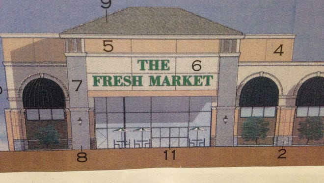 This rendering shows what The Fresh Market will look like when it opens by around mid-August in The Oaks shopping center off Thompson Lane and Medical Center Parkway in Murfreesboro.