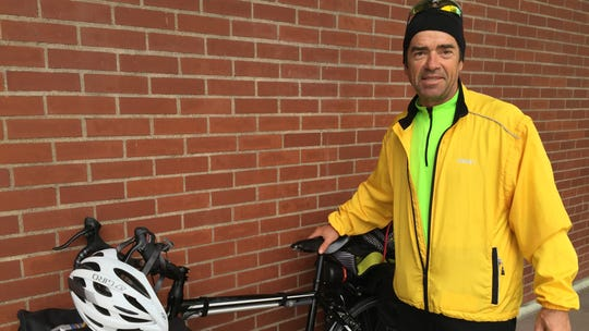 Bertrand Boudreau, on a cycling journey he calls Angels