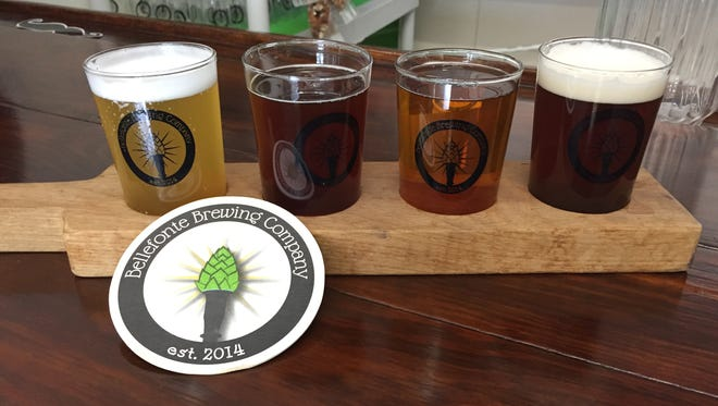 A flight of four 6 oz. beers from Bellefonte Brewing will run you $10.