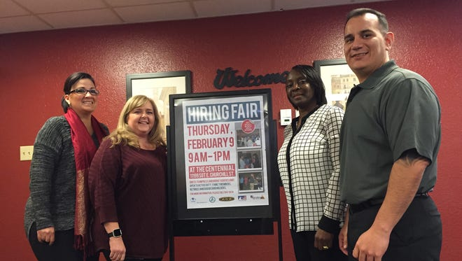 The staff with the Employment Readiness Program is, from left, Deana Garcia, Denise Carothers, Danita Johnson and Thomas Sotomayor.