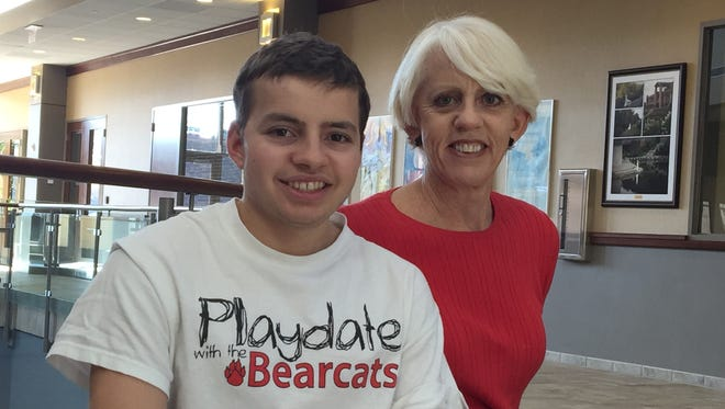 Mitch Stone and his mom, Dee Stone, are busy planning for the upcoming Playdate with the Bearcats, 2 to 5 p.m. Sunday, Feb. 12.