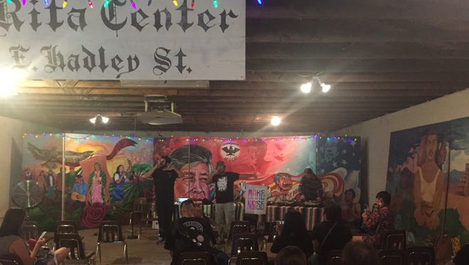 Shining Soul plays with Djentrification at Santa Rita Center for a community celebration called, Make Noise: An Open Mic in Barrio Campito