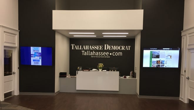 The lobby of the Tallahassee Democrat