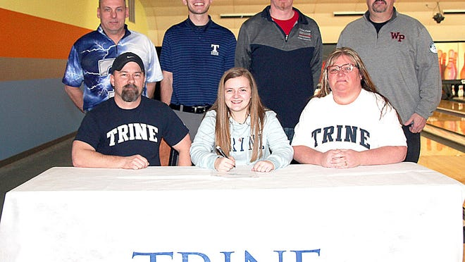 Blossom King of White Pigeon will continue her academic and bowling careers with Trine University.