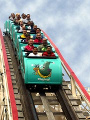 Playland's Dragon Coaster.